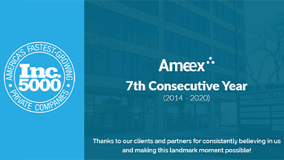 Ameex named to Inc. 5000 list for theSeventh Consecutive Year!