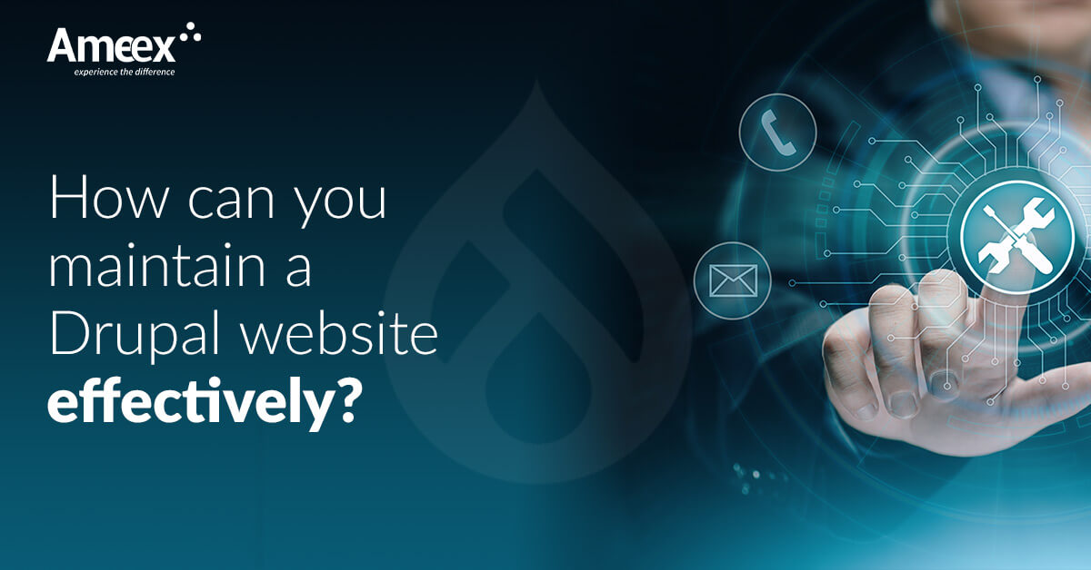 How can you maintain a Drupal website effectively