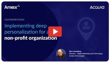 Implementing deep personalization for a national non-profit organization